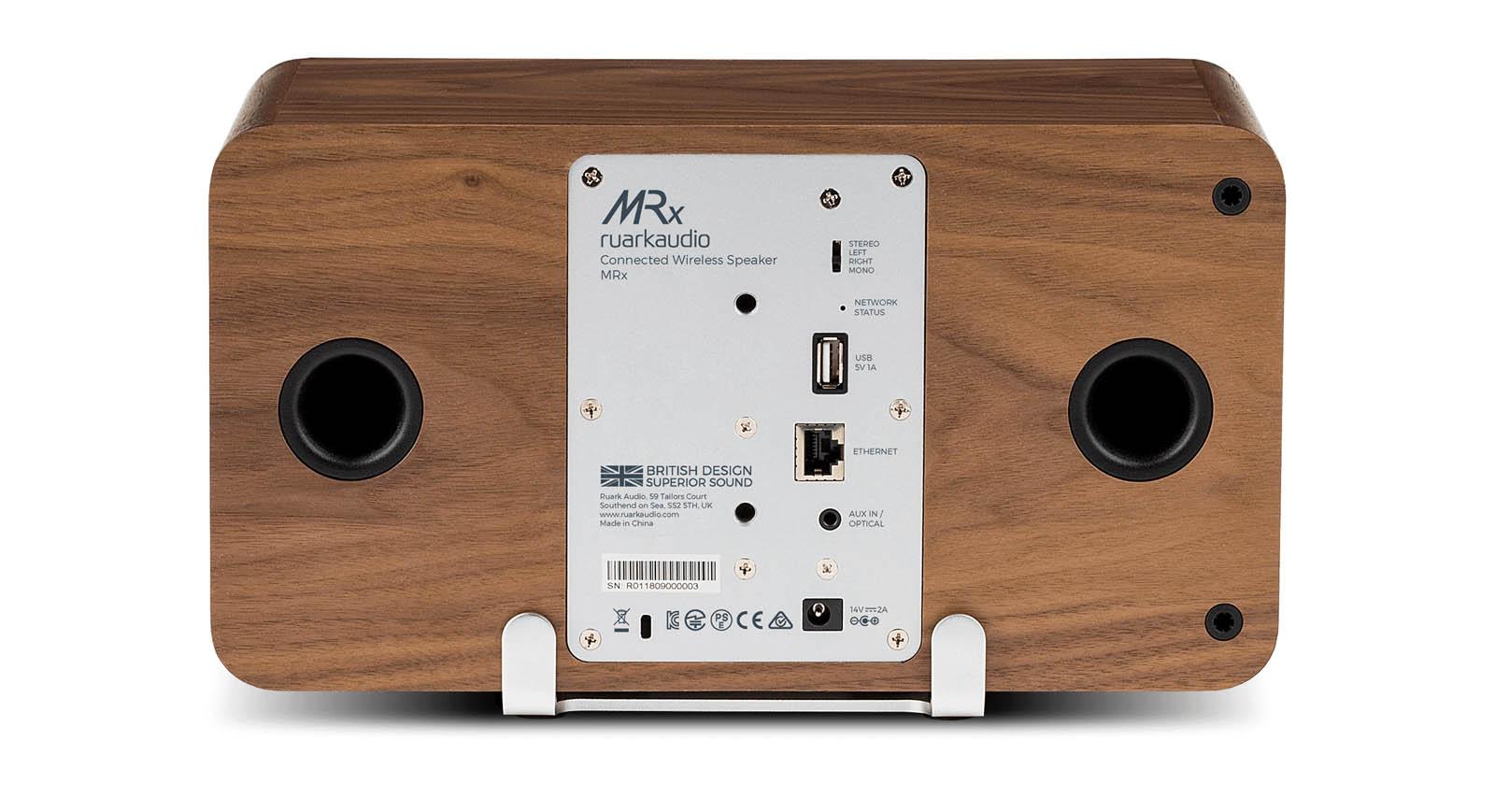 RuarkAudio - MRx Walnut - Vue arrière
